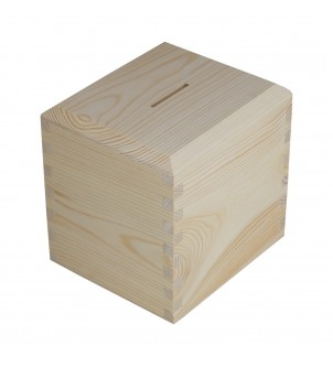 Skarbonka z drewna