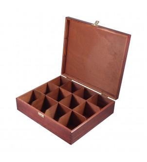 Pudełko z drewna na 12 herbat