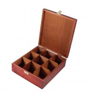 Pudełko z drewna na herbatę