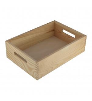 Skrzynka z drewna mała