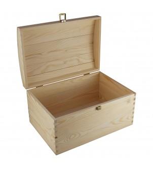 Kufer z drewna - duży