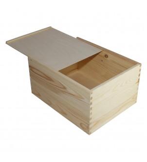 Pudełko z drewna zasuwane