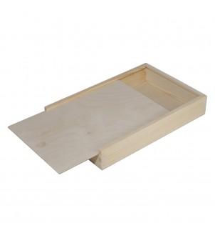 Płaskie pudełko z drewna...