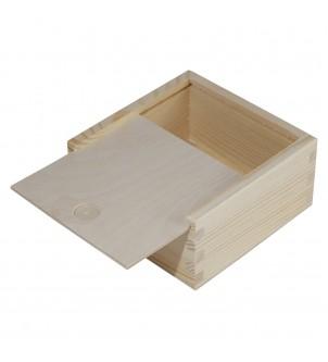 Zasuwane pudełko z drewna